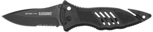 Blackhawk 15m111bk Cqd Mark 1 Type E Manual Folding Knife In Black Serrated Edge Yes