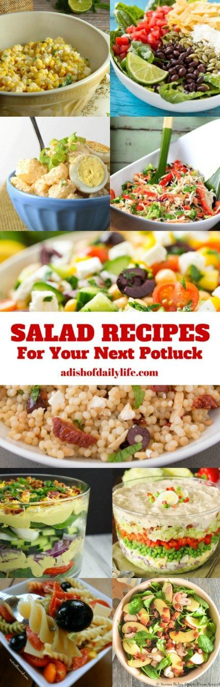 Get ready for the summer barbeque season! Here are 19 Salad Recipes that are absolutely perfect for your next potluck!