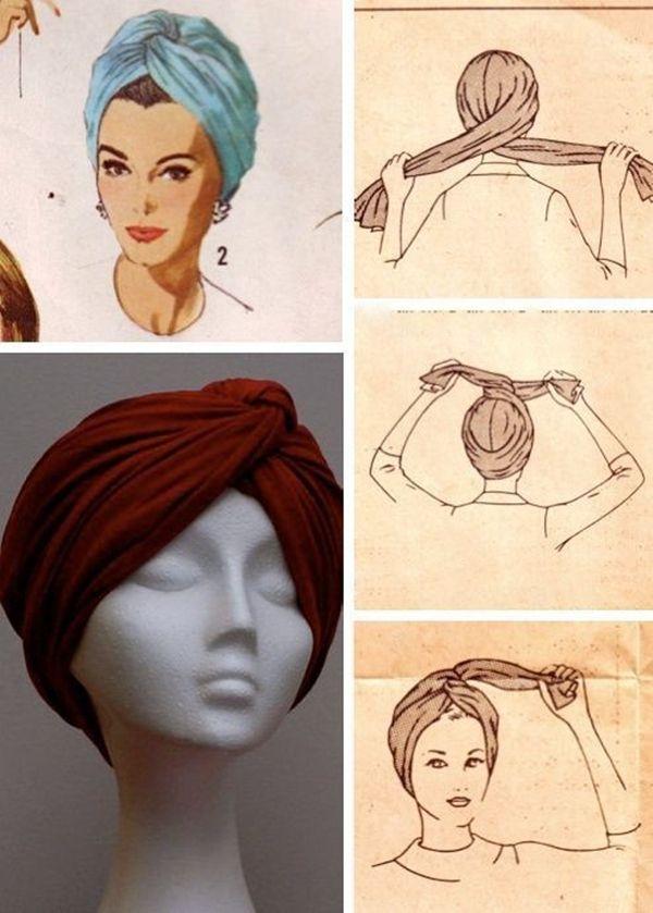 Как красиво завязывать шарф на голову женщине: стильные ...