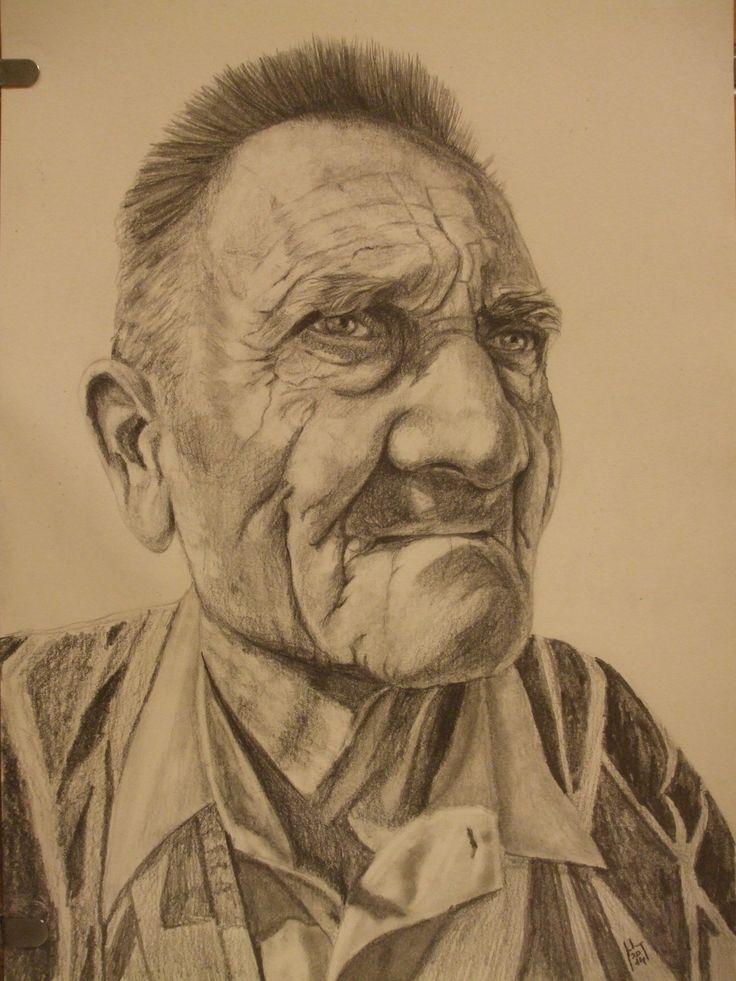 Nagypapa, A4 ceruza rajz