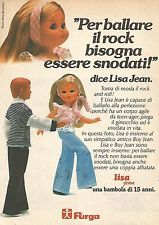 X0925 Lisa Jean - Bambola Furga - Pubblicità del 1976 - Vintage advertising