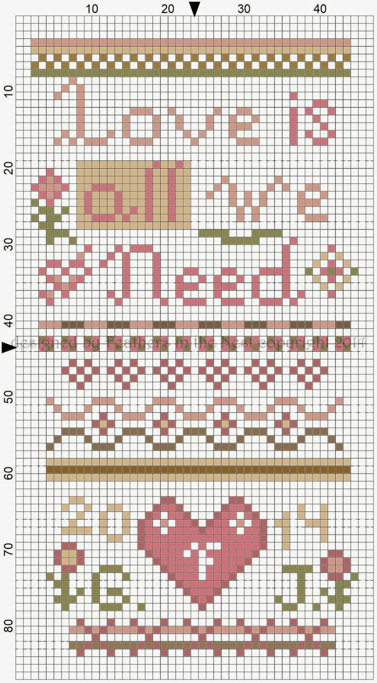 Love Is All We Need designed by Jennifer Fox, Feathers in the Nest copyright 2014