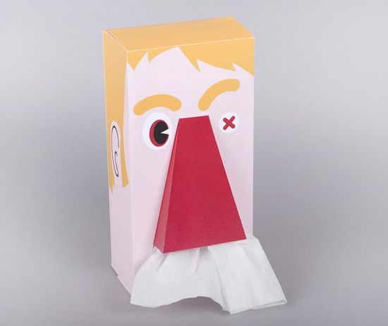 Cool packaging design concept for a tissue box from the packaging students of Sylvain Allard Bless you!