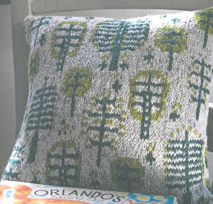 Aran & Nordic Knits for Kids by Martin Storey - Knitted cushion in Rowan Felted Tweed