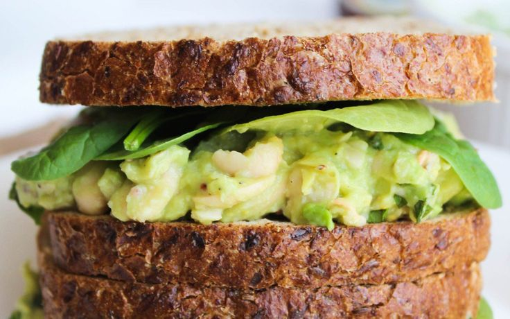 Smashed White Bean Avocado and Basil Sandwich [Vegan] | One Green Planet