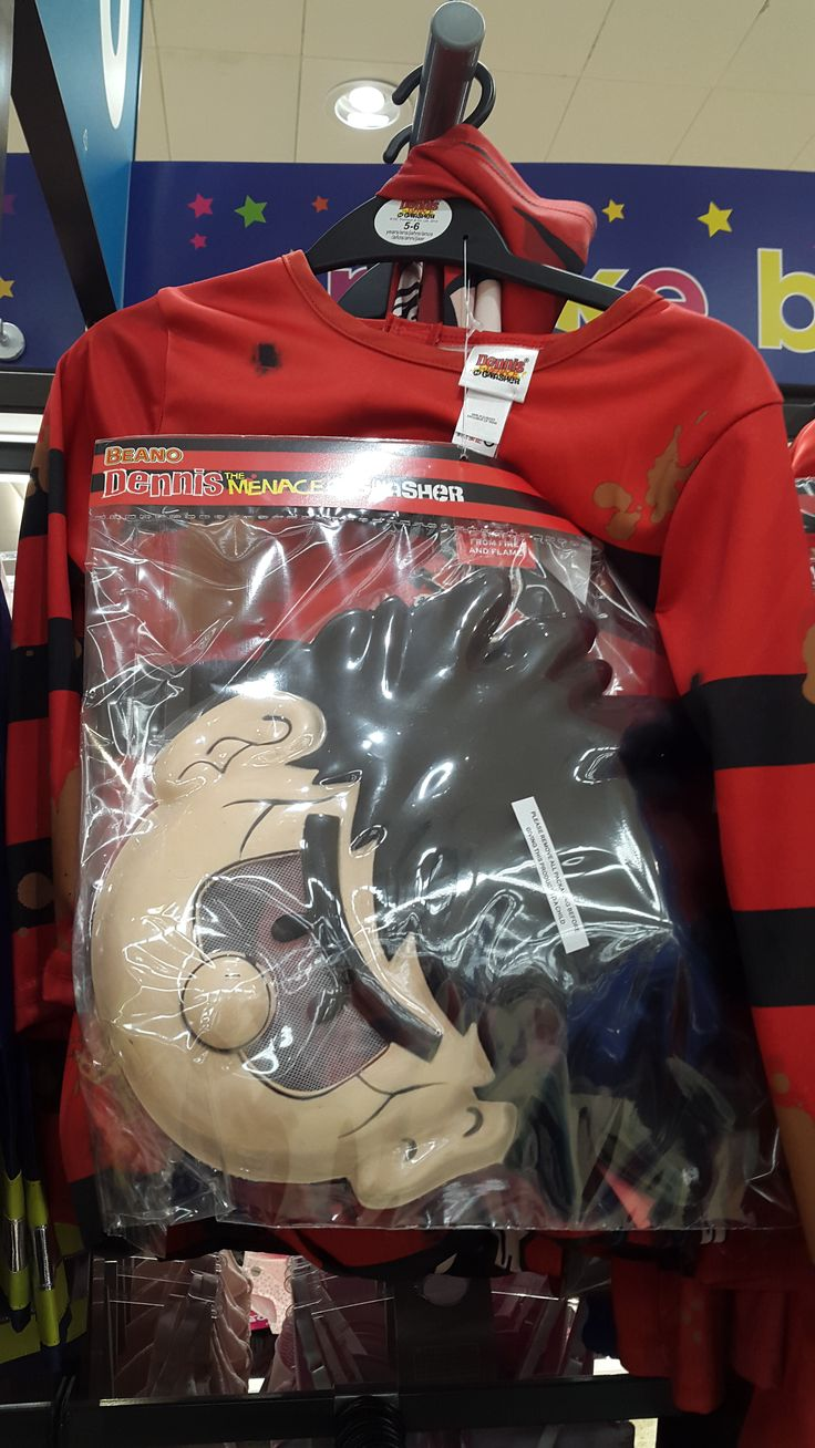 Dennis the Menace Dress Up costume from Rubie's - in Sainsbury's for World Book Day , February 2015.