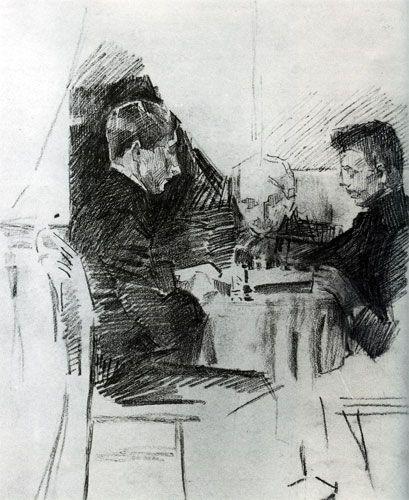 М. А. Врубель Обдумывает ход (Игра в шахматы). 1903-1904 ...