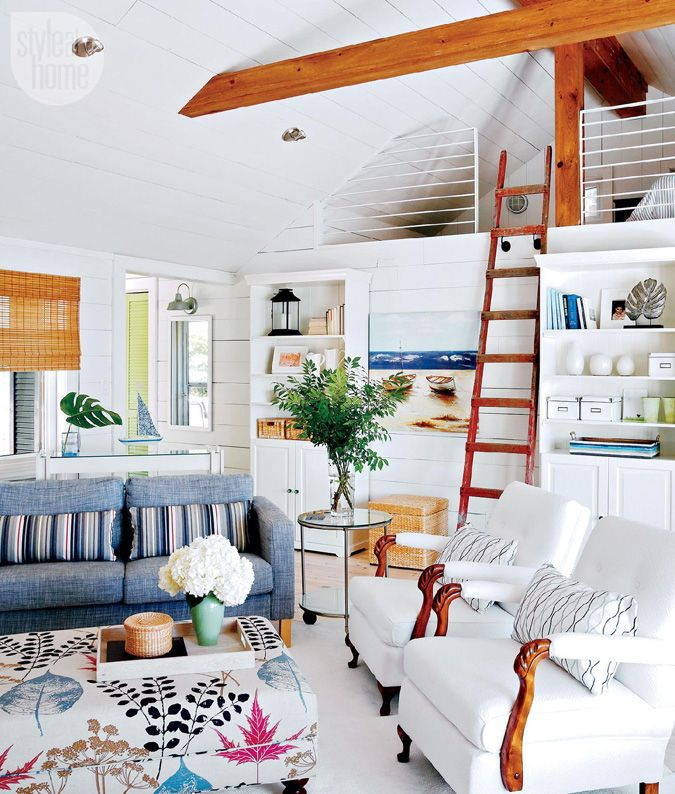 Bright Whites, A Colorful Ladder, And Lots Of Pattern Play