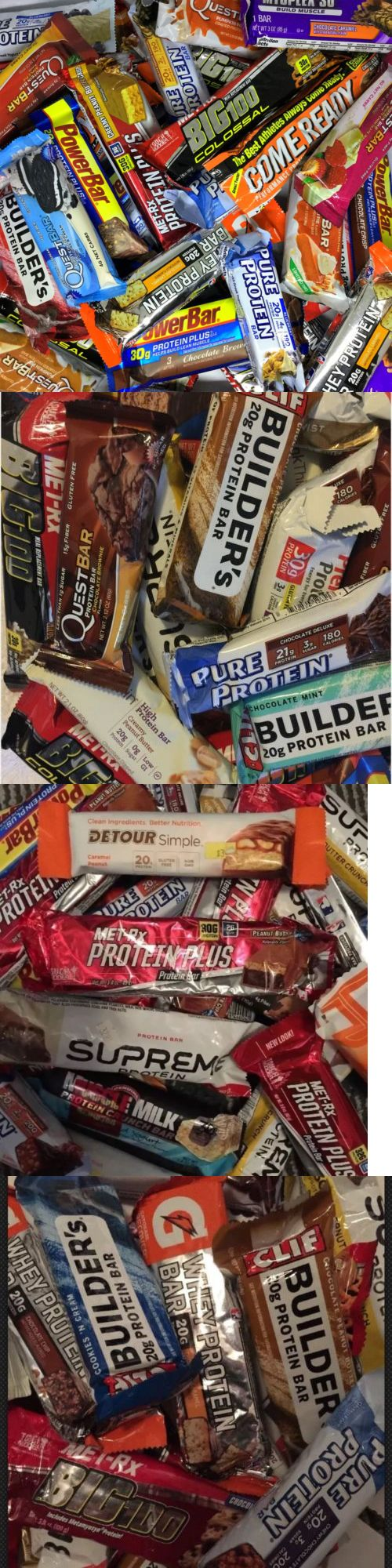 Energy Bars Shakes and Drinks: 30 Assorted Brand 20 - 32G Protein Bars Supreme Quest Met-Rx Clif Builder -> BUY IT NOW ONLY: $31.44 on eBay!