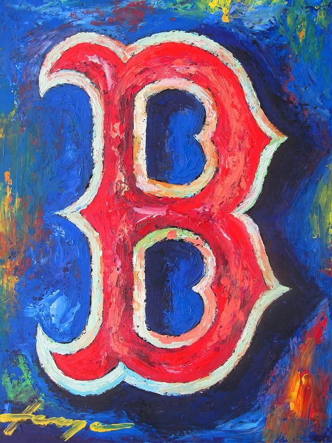 124 Best Sports Paintings Images On Pinterest Boston Red