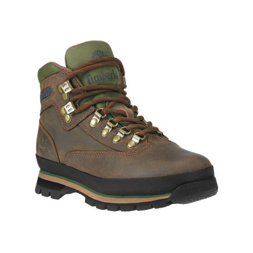 Women's Timberland® Leather Euro Hiker Boots Oiled Brown Smooth