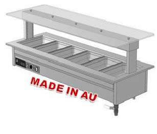 Culinaire CH.BMG.T1A.3M Heated Bain Marie with Gantry - Hot Food Display & Bain Marie - Kitchen & Catering Equipment