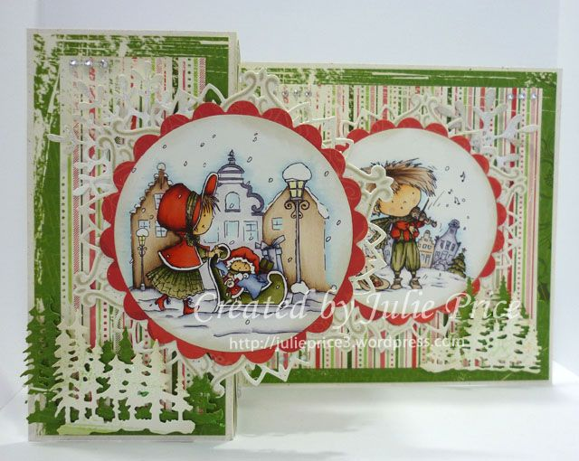 Don and Daisy Christmas topper and Marianne Designs paper and dies http://julieprice3.wordpress.com/2014/11/21/christmas-with-don-and-daisy/