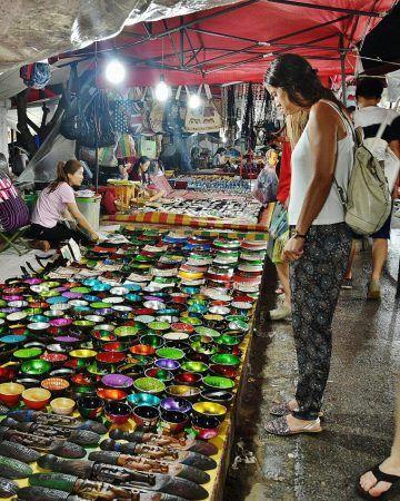Night Market en Luang Prabang en Laos