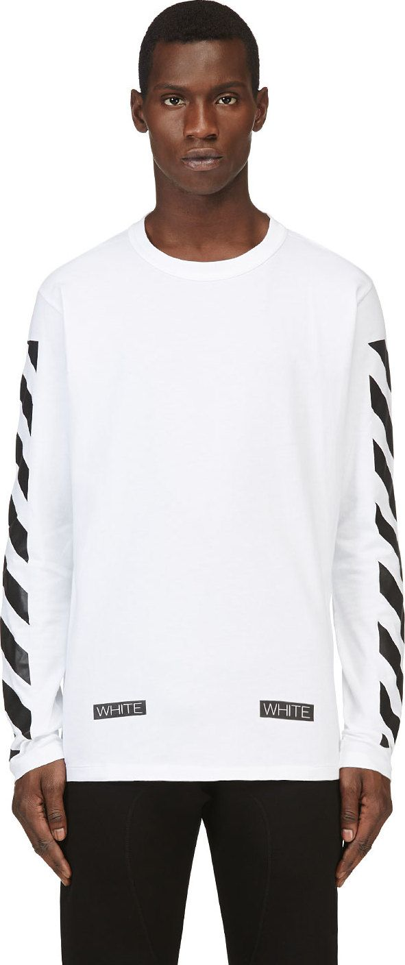 #Off-White White & Black Printed Virgil Abloh Edition Shirt