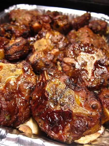 Smoked Oxtails, topping Vegetables