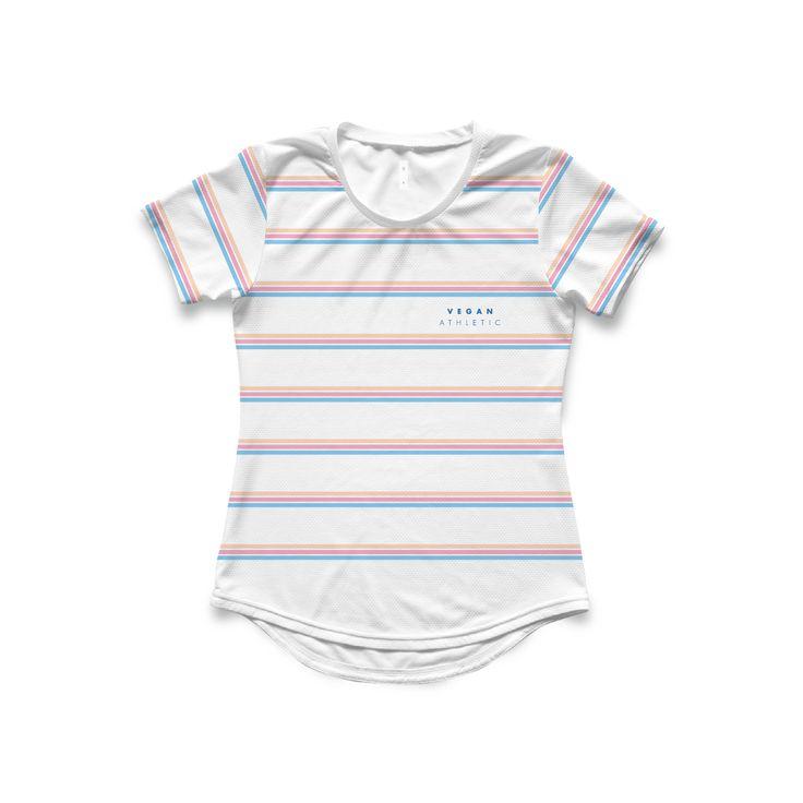 Women's Tech-Tee / Pastel Tripple Stripe