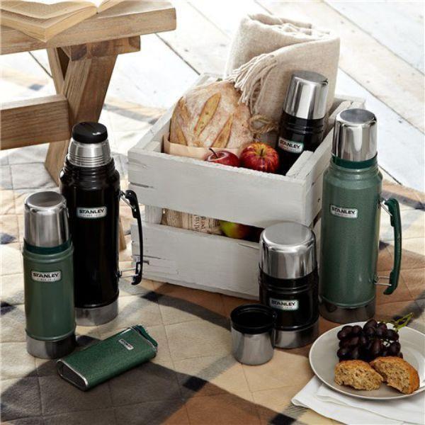 STANLEY  |  Classic 1L Vacuum Flask - Hammertone Green