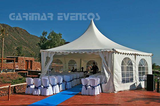 Carpa para ceremonia de boda carpas para bodas pinterest for Carpas baratas para jardin