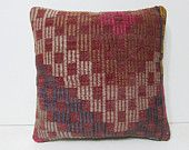 pink kilim pillow pouf knitted cushion cover wool cushion cover contemporary pillow case boho cushion cover pink throw pillow sham rug 28159