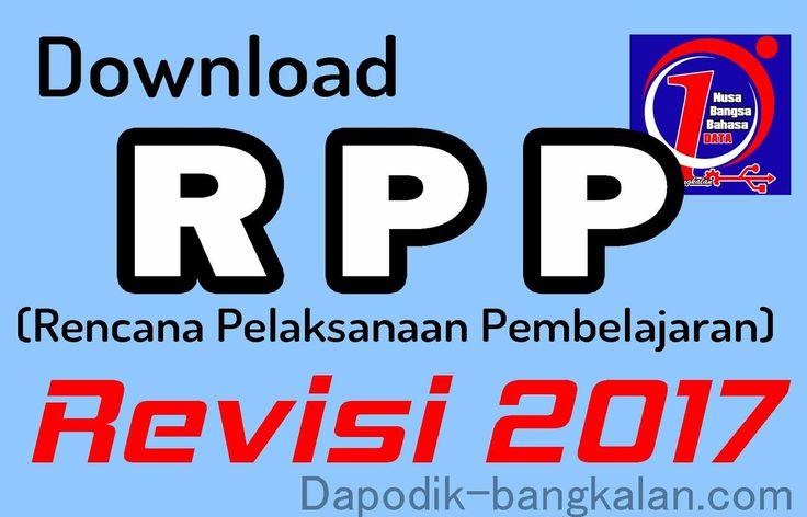 DAPODIK BANGKALAN: Download RPP Kurikulum 2013 / K13 Revisi Tahun 2017