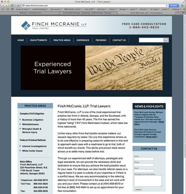 Finch McCrannie Website & CMS Website, Pro bono, Blog