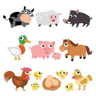 Colección de animales de granja