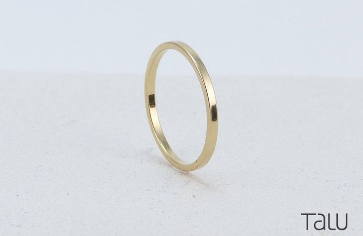 Simple Gold Ring, 14k Gold, Thin Wedding Ring, Rounded Thin Band, Dainty Jewelry, Forever Gold Ring, Perfect Ring, Classic Wedding Ring by TALUrockngold on Etsy