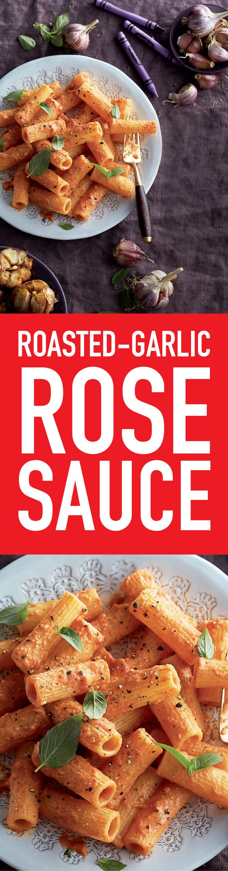 With the help of a few simple ingredients you likely have on hand, prepare rich and creamy restaurant-style Roasted-Garlic Rosé Sauce.