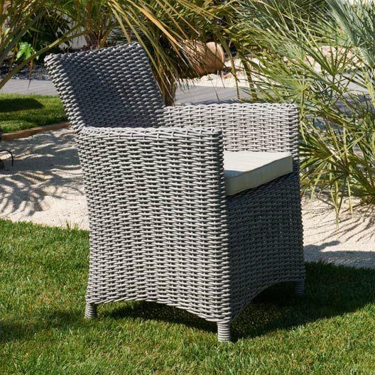 top fauteuil de jardin en rsine tresse elgance gris est sur faites le bon choix en retrouvant. Black Bedroom Furniture Sets. Home Design Ideas