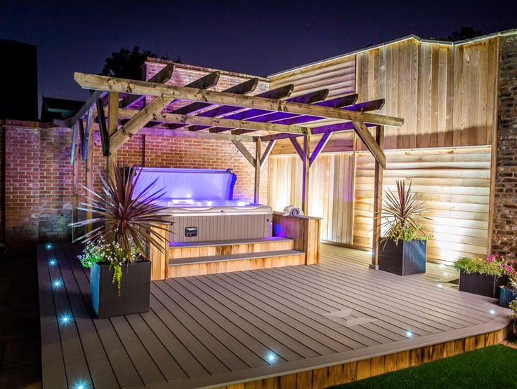 82 best images about outdoor spa living on pinterest hot tub deck swim and backyards for Chester le street swimming pool