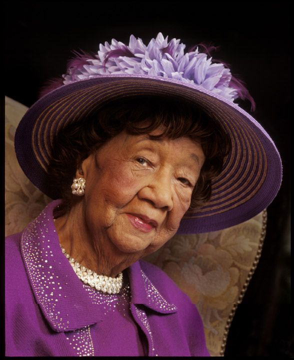 Dorothy Height, Matriarch of Justice, 'Crowned' in her favorite color.  Dorothy Irene Height's crusade for racial justice and equality spanned more than six decades.