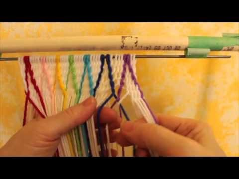 Basic Finger Weaving Method - YouTube