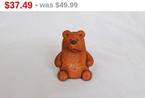 Bear sculpture Teddy bears for sale 1990s OOAK Vintage Handmade Bear figurine Brown bear Bear statue Bear decor Fireplace mantel decoration. by HomemadeCraftIdeas on Etsy https://www.etsy.com/listing/244298068/bear-sculpture-teddy-bears-for-sale