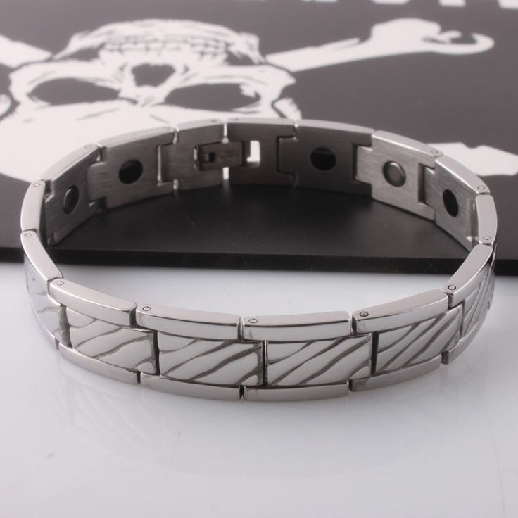 health jewelry bracelet stainless steel magnetic and germanium