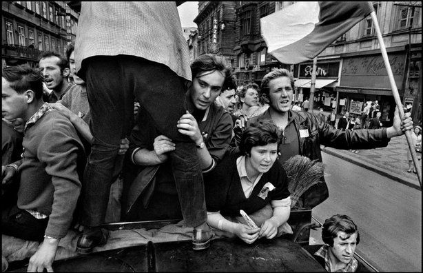 Photography by Josef Koudelka. Prague, Czechoslovakia. The invasion by Warsaw Pact troops, August 1968.