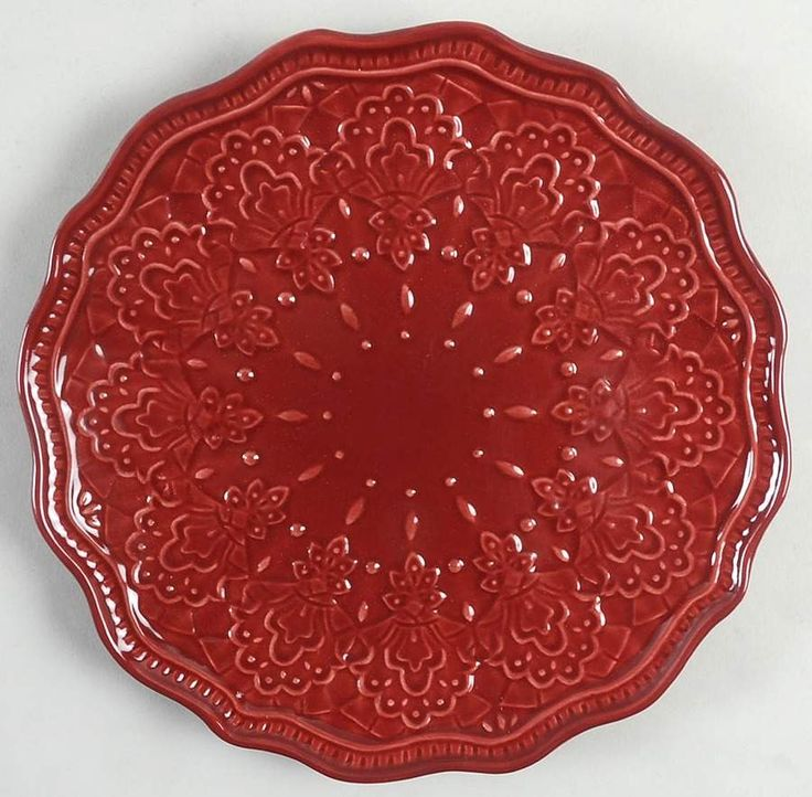 Farmhouse lace claret salad plate by pioneer woman in 2021