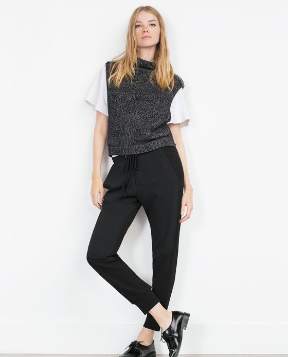 Image 3 of JOGGING TROUSERS from Zara