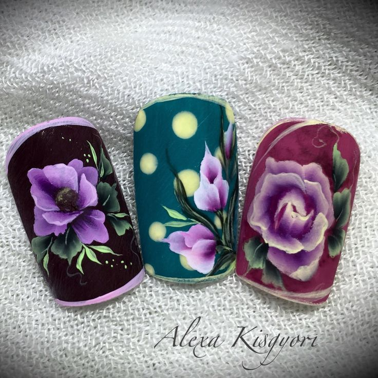 200 Best Porceln Onestroke Images On Pinterest Flower Nails