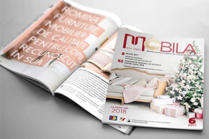Design grafic și tehnoredactare revista Mobila nr. 6, 2017
