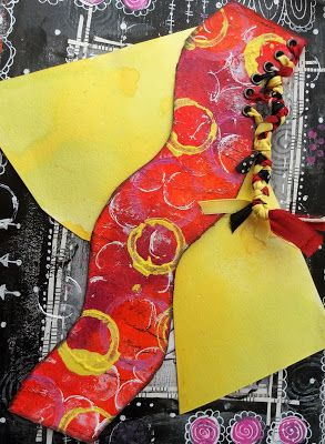 The Artistic Stamper Creative Team Blog: Journal Bookmark by Gemma #artisticstamper #artjournal #artjournalling #circles #paints #bookmarks #handmade #create