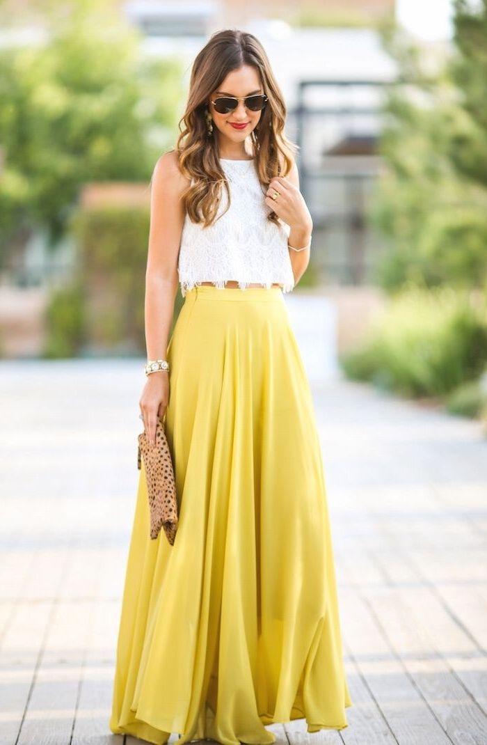Robe jaune pour mariage invite