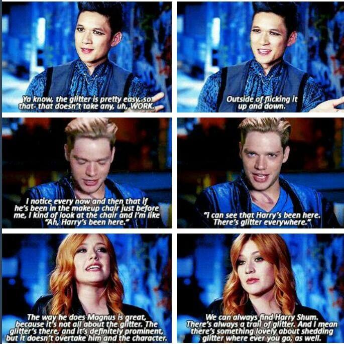 Ahahaha I love this! Magnus and his glitter