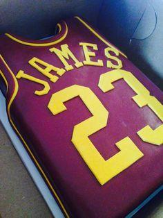 Lebron James jersey birthday cake