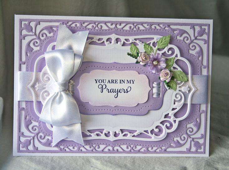 You Are In My Prayers. Spell binders die cut card.