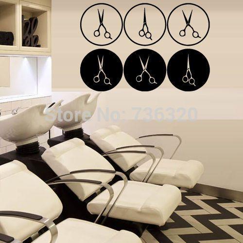 kapsalon-muurschilderingen-vinyl-muurtattoo-stylist-kapsalon-beauty-schaar-kapsel-haar-etalage-glas-decoratie-muur-sticker.jpg (500×500)