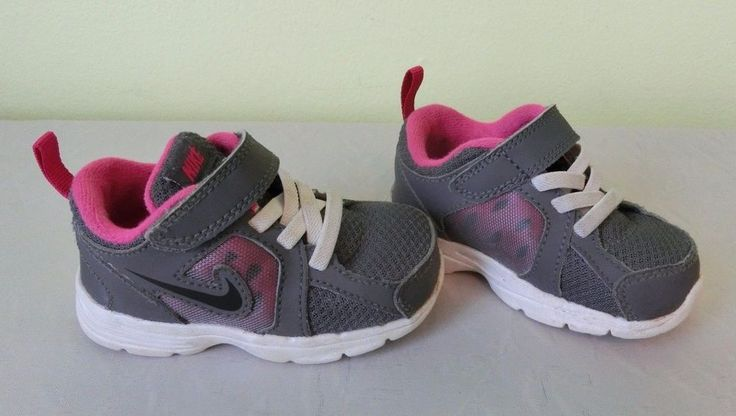 Nike Girls Baby Toddler Sneakers Shoes Velcro Pink Gray Size 5c #Nike