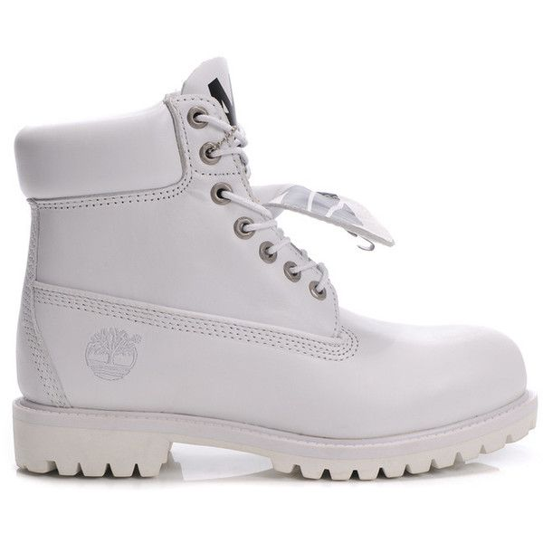 New Arrival Fashion Timberland 6 Inch Men all white For Cheapest Save... ❤ liked on Polyvore featuring mens, men's shoes, shoes, boots, footwear, sneakers ve timberland