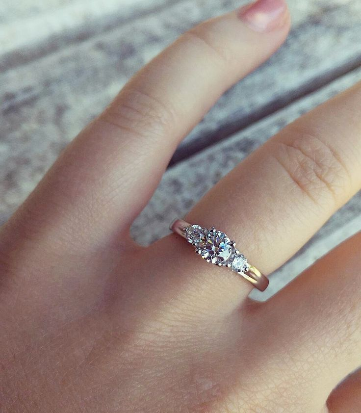 Three Stone Round / Engagement Ring  The Lucienne Setting