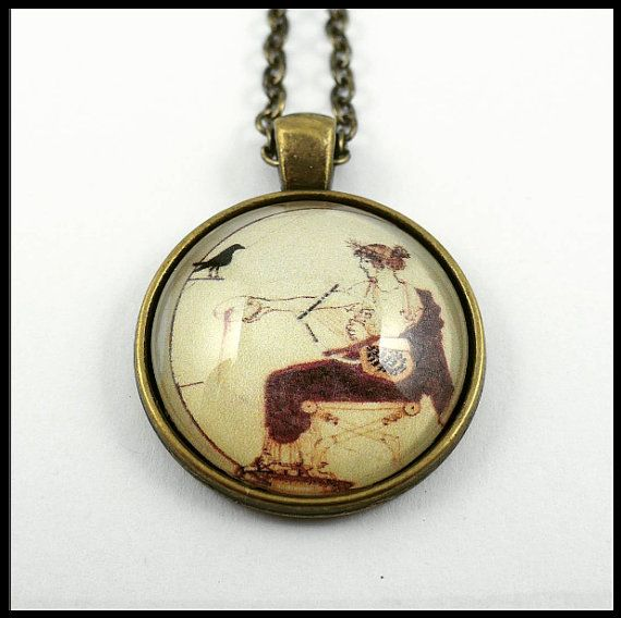 #ArtPassionBijoux by Sara, #italian #handmade #jewelry inspired by #art. Ancient world #medallion, #Greece, #Apollo, Vth century BC, #archaeology #history #music